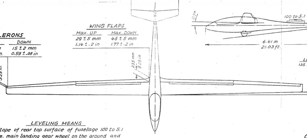Mini-Nimbus HS-7 Planform Drawing