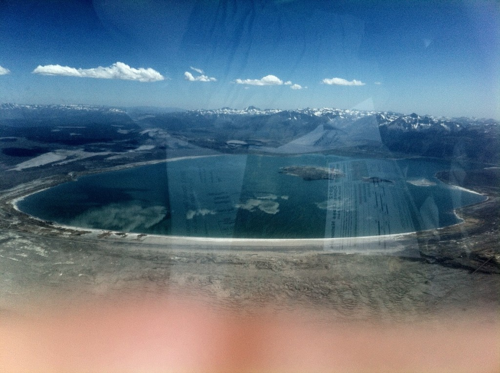 Mono Lake from JOY, and my finger