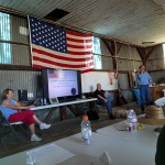 Safety meeting and briefing on day -1 of the 2014 US Open Class Nationals