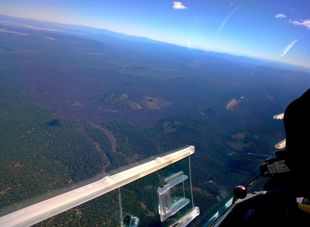 Lava field east of Mount Shasta.
