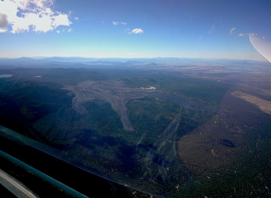 Lava flow east of Medicine Lake