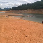 Low water at Shasta Lake