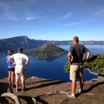 Crew and Mike check out Crater Lake